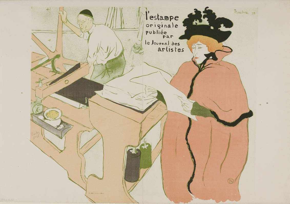 Henri de Toulouse-Lautrec 1893 lithography (printed in six colours) 565 x 652 mm